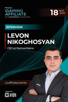 Levon Nikoghosyan, a representative of PartnerMatrix and EveryMatrix, will share his opinion within the panel discussion at Prague iGaming Affiliate Conference on April Discussion topic: Innovative gaming business with affiliate marketing.