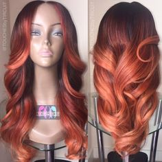 colored weave and/or wig | autumn haor color