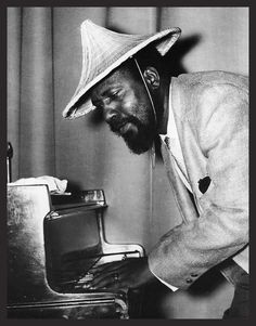 "Thelonius ""Sphere"" Monk was an eccentric and brilliant jazz pianist.I was so lucky to see him play at a club called ""The Intersection"" in L. Jazz Artists, Jazz Musicians, Smooth Jazz, Francis Wolff, Thelonious Monk, Cool Jazz, Duke Ellington, All That Jazz, Miles Davis"