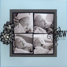 Layout Inspiration (Crooked photos, and large embellishments that are somehow not overwhelming the photos)