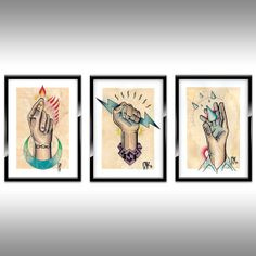 Bioshock Inspired Tattoo Designs 3 Set by OllieKeableDesigns