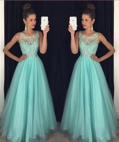 Off shoulder blue Prom Dress, long Prom Dress, beaded Prom Dress, turquoise Prom Dress, dresses for prom,FS17111