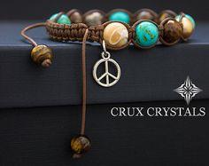 TULPE Rhodonit Edelstein Perlen Armband Womens Shamballa