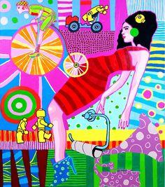 Marcin Painta, Ona i gramofon, akryl na plotnie, 120x100cm, 2011 - praca prezentowana na konferencji prsowej 14.11 2013 w ramach promocji Polskiej Sztuki - Dumni Polską! SZTUKĄ - promocja polskiej sztuki i kultury - rejs dookoła świata http://artimperium.pl/wiadomosci/pokaz/89,dumni-polska-sztuka-promocja-polskiej-sztuki-i-kultury-rejs-dookola-swiata#.UoQNKBpWySo