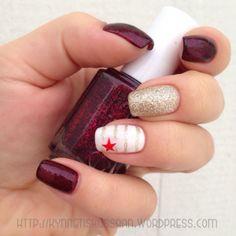 Vampy red star mani