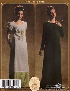 Simplicity 4055 UNCUT PATTERN 14-20 Regency Romantic Dress/Gown Costume Titanic
