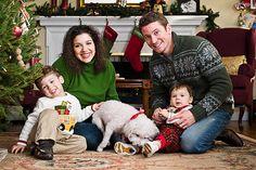 Family Christmas Portrait - DIY