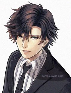"complexwish: "" Jumin Han smiling. Part of a whole body picture I'm working on. (yes the 707 pictures I posted previously actually have more than just the head as well haha) """