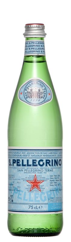 s. pellegrino - do not forget water as well as all of the other wonderful refreshments