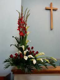 Flowers for church Large Flower Arrangements, Funeral Flower Arrangements, Churc. Flowers for chur Funeral Floral Arrangements, Easter Flower Arrangements, Tropical Floral Arrangements, Creative Flower Arrangements, Flower Arrangement Designs, Ikebana Flower Arrangement, Beautiful Flower Arrangements, Tropical Flowers, Altar Flowers