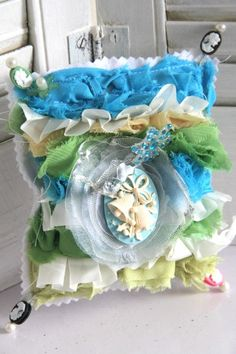 Pin Cushion made with Webster's Pages irresistible Bloomers .... by Emeline Seet.