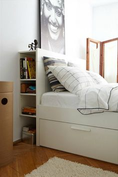 Ten Modest Bedroom With Headboard Storage Ideas & 12 Bedroom Storage Ideas to Optimize Your Space   Pinterest ...