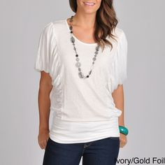 @Overstock - You'll look trendy and cute in this pretty shirred top from Grace Elements. This top features a banded waist that helps accentuate your figure, and it comes in your choice of black or white, so you can choose the best color for your complexion.http://www.overstock.com/Clothing-Shoes/Grace-Elements-Womens-Shirred-Top/6972171/product.html?CID=214117 $19.99