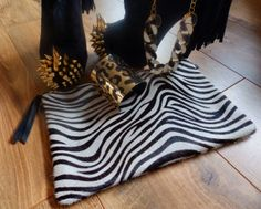 Tara from The Style Rawr showing off her beautiful zebra print 1951 Maison Francaise Bag!