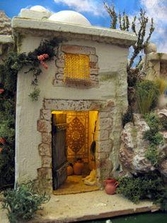 get-attachment.asp 360×480 píxeles Nativity House, Christmas Nativity Scene, Play Houses, Bird Houses, Journey To Bethlehem, Fontanini Nativity, Christmas In Italy, Chandelier Lamp, Miniature Houses