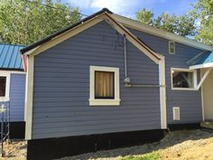 Little Blue House: Improvements - we are about 90% finished painting our wee house! Small house but lots of work!