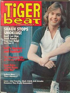 Oh, Tiger Beat w/ Shaun Cassidy on the cover! Loved him! - I think I even had that issue! Great Memories, Childhood Memories, Janet Johnson, Tiger Beat, Bay City Rollers, I Remember When, Believe In Magic, On Today, My Memory