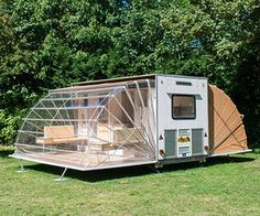 It's mobile, it's mod, it sleeps four and it's on wheels. Initially designed by Eduard Bohtlingk back in 1985, the Markies (or 'Marquis' in English) is now one of the available camping structures at Amsterdam's fun and unusual Urban Campsite.