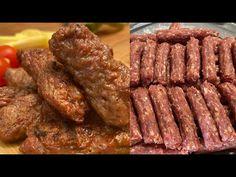 Reteta de mici DEFINITIVA- 💚(Reteta de mititei de casa) - YouTube Food And Drink, Cooking Recipes, Beef, Cakes, Youtube, Dessert Food, Cooking, Meat, Cake Makers