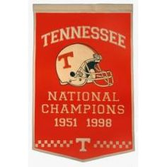Tennessee Volunteers Large Dynasty Wool Banner with Hanging Rod