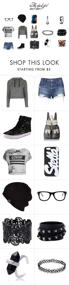 """The dark girl next door!"" by leelee13030 ❤ liked on Polyvore featuring Topshop, Rebecca Minkoff, T-shirt & Jeans, Religion Clothing, STELLA McCARTNEY, UGG Australia, Muse, Beats by Dr. Dre, Valentino and darkbutcute"