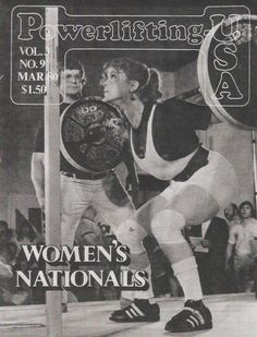 Here's a blast from the past (32+ years ago) .... What an honor and an incredible privilege it was to be the first lady to grace the cover of Powerlifting USA!