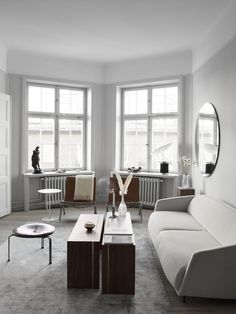 Find out why modern living room design is the way to go! A living room design to make any living room decor ideas be the brightest of them all. Scandi Living Room, Living Room Bedroom, Living Room Interior, Living Spaces, Kids Bedroom, Living Rooms, Bedroom Ideas, Master Bedroom, Bedroom Decor