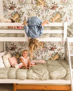 The girl's room👉🏼 (Swipe) It is the smallest room in our home, but that didn't limit these sisters from wanting to share it, and have…