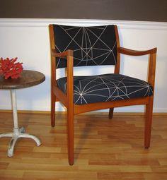 Vintage Danish mid-century modern walnut chair