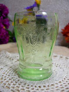 Green Depression Glass Anchor Hocking Cameo by MyRetroCharm, $25.75