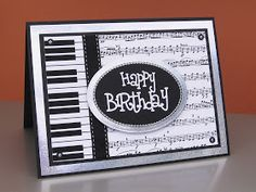 Claudia's Cards: Pop-up Piano Card