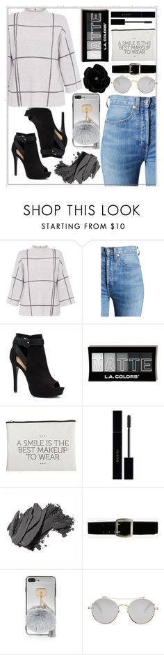 """""""black friday"""" by ashleygarciaforlife ❤ liked on Polyvore featuring L.K.Bennett, RE/DONE, Apt. 9, House Doctor, Gucci, Bobbi Brown Cosmetics, Express, Givenchy and SWILDENS"""