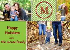 Monogram Christmas Card  Photo Christmas Card  by TheIronTractor, $9.00