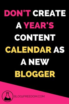 creating a years content calendar as a new blogger is a mistake! You need to learn more about your audience and get to know them to know what you should create! Make Easy Money, Make Money Blogging, How To Start A Blog Wordpress, Social Media Apps, Blog Writing, Free Blog, Making Ideas, Content, Calendar