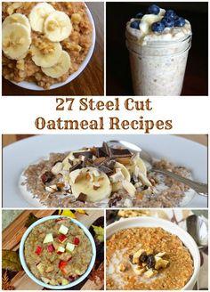 Steel Cut Oatmeal Recipe Collection - TheLemonBowl.com #oatmeal #steelcutoats #breakfast