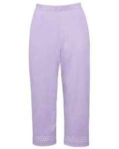 Cathy Daniels Embellished Knit Cropped Pants, Lavender, Large Cathy Daniels. $25.20