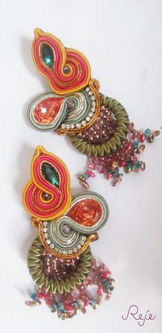 """soutache earrings """"Cuba"""" www.rejesoutache.com"""