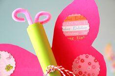 Ausführliche Foto-Anleitung zur Erstellung einer Schmetterling Geburtstagseinladung- perfekt für kleine Mädchen Geburtstage, einfach zu basteln mit Kindern...