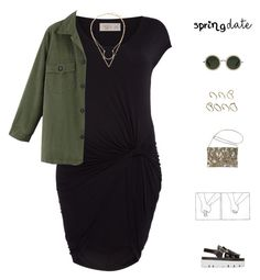"""""""Spring Date: Pretty Plus-Size Style TS!"""" by mysecretismine ❤ liked on Polyvore featuring Avenue, Label Lab, MM6 Maison Margiela, ASOS, Linda Farrow and springdate"""