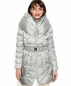 Laundry by Shelli Segal Coat, Pillow-Collar Hooded Puffer