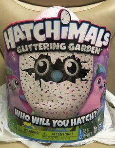 Brand New Spin Master HATCHIMALS Glittering Garden Pink/Purple Sparkly Penguala