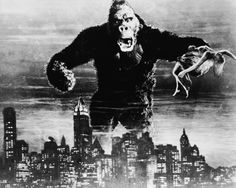 Publicity still for King Kong with all scale thrown out the window.