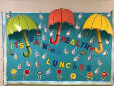 Cafe Bulletin Boards, Cafeteria Bulletin Boards, Nutrition Bulletin Boards, Nurse Bulletin Board, Spring Bulletin Boards, Bulletin Board Letters, School Cafeteria Decorations, School Themes, Inspirational Bulletin Boards