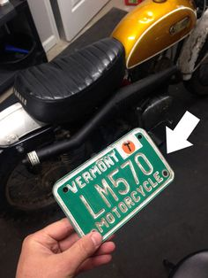 Get a title with a Vermont Registration - Chin on the Tank – Motorcycle stuff in Philadelphia. Cafe Racers, Vermont, Philadelphia, Honda, Trail, Motorcycle, Motorcycles, Motorbikes, Choppers