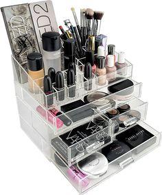 Amazon.com: Organizta Chic Box - Acrylic Makeup Organizer & Cosmetic Organizer with Deep Drawers & Acrylic: Home & Kitchen
