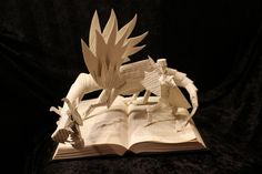Origami pop-up adventure books