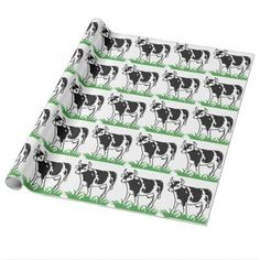 Spotted Moo Cow Wrapping Paper - craft supplies diy custom design supply special