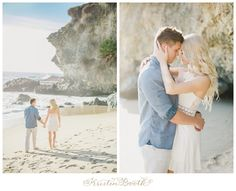 A dreamy set of engagement photos at the Victoria Beach castle tower in Laguna Beach, CA.