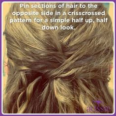 Simple hairstyle!