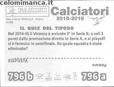 Calciatori 2015-2016: Retro Figurina n. 796 Andrea Mantovani - Thomas Manfredini